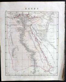 Arrowsmith 1841 Antique Map. Egypt